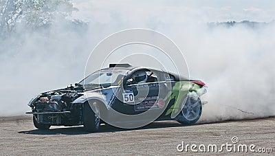 Drift car Editorial Photography