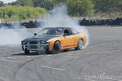 Drift car Editorial Photo