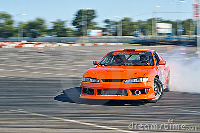 Drift car in action Editorial Photo