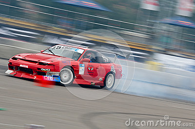 Drift car in action Editorial Stock Image