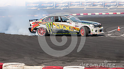 Drift car Europe championship Editorial Stock Image