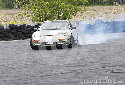 Drift car Editorial Stock Image
