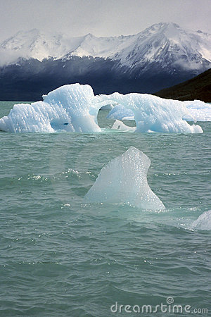 Drift ice in Patagonia