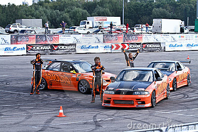 Drift show Orange team Editorial Stock Image