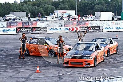 Drift show Orange team Editorial Stock Image