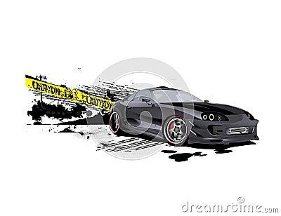 drifter Supra customized caution speeder