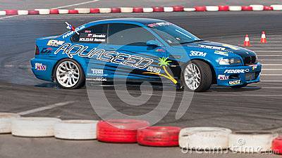 Drifting car at championship Editorial Image