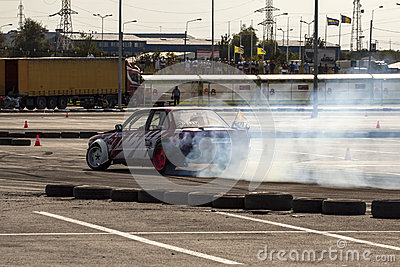 Drifting championship King of Europe Editorial Photo
