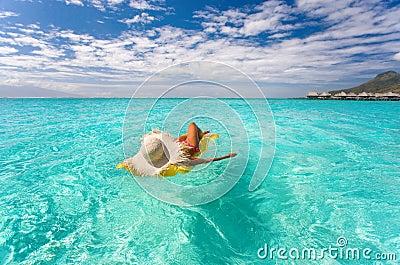 Drifting paradise woman