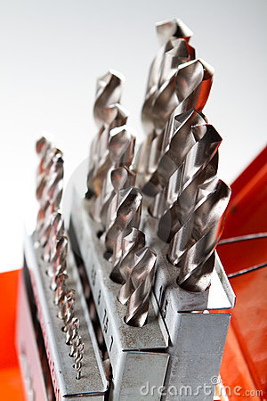 Free Drill Bit Set Stock Photo - 18622440