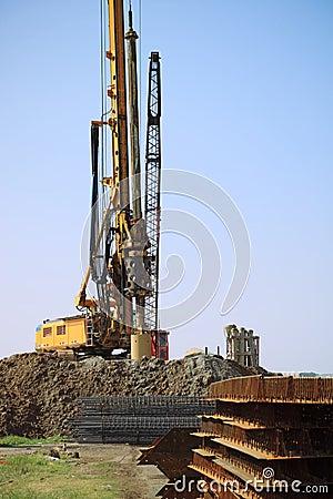 Drill rig in site