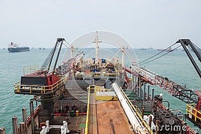 Drill Ship Equipment Editorial Stock Photo
