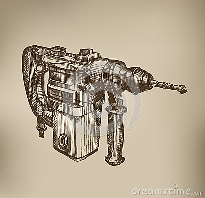 Drill. Vector Format