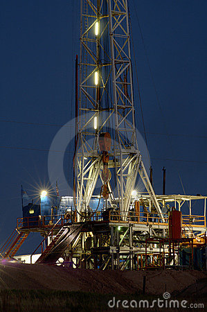 Drilling night rig
