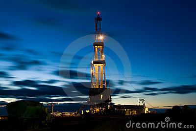 Drilling Rig in the night