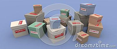 Dringende en breekbare pakketten