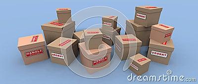 Dringende und empfindliche Pakete
