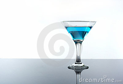 Drink alcohol in a glass on the table