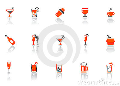 Drink and bar icons.
