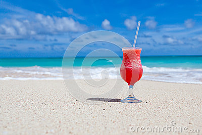Drink on beach