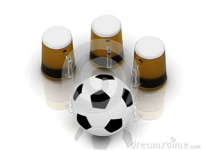Drink a beer with friends after football