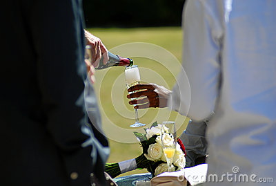Drink being served