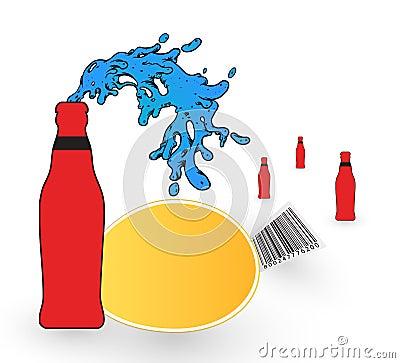 Drink bottle illustration