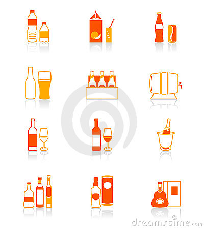 Drink bottles icons | JUICY