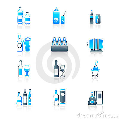 Free Drink Bottles Icons | MARINE Series Stock Images - 16953904