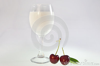 Drink and cherry