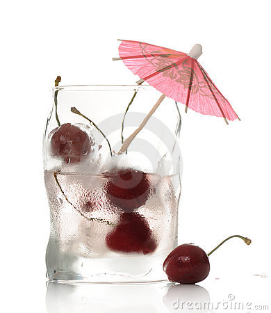 Drink with cherry