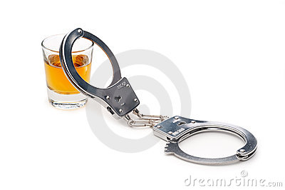 A drink and handcuffs