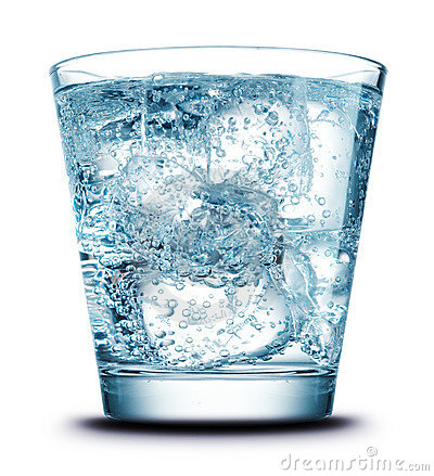 Drink with ice close-up