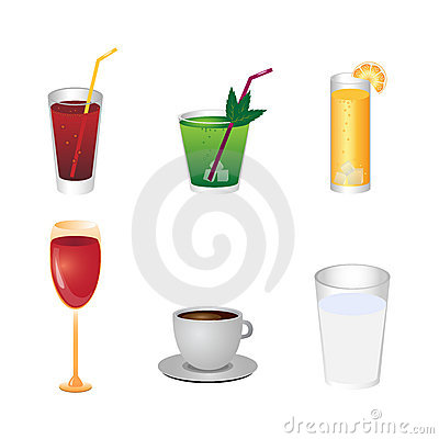 Free Drink Icons Royalty Free Stock Photo - 14203675