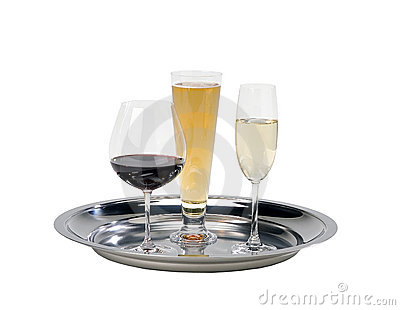 Drink serving tray
