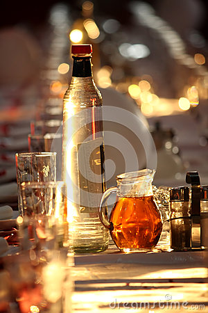 Drink on table