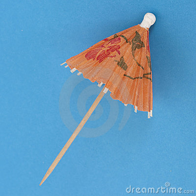 Drink Umbrella on a Vibrant Background