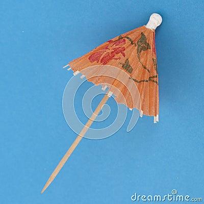 Drink Umbrella on a Vibrant Background