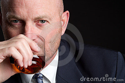 Drinking Businessman