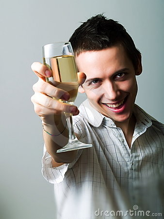 Drinking champaign