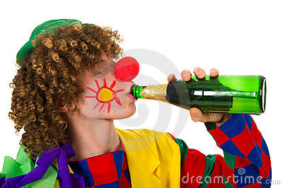 Drinking clown