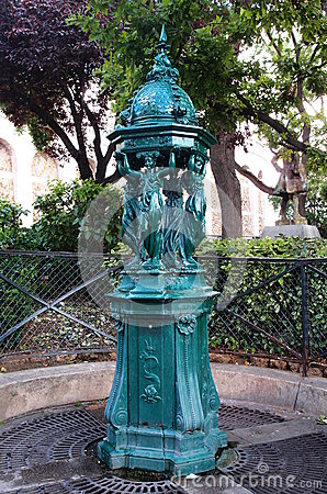 Drinking fountain in Paris, France