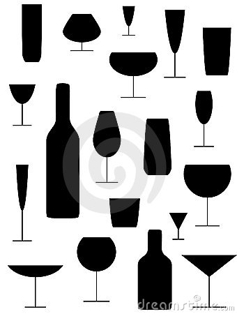 Free Drinking Glasses Royalty Free Stock Image - 10268966