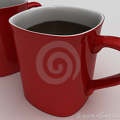 Drinking a  hot cup of hot chocolate or coffe