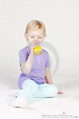 Drinking little girl