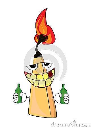 Drinking Match Cartoon Stock Illustration - Image: 48766283