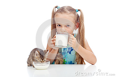 Drinking milk with my best friend