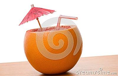 Drinking orange isolated
