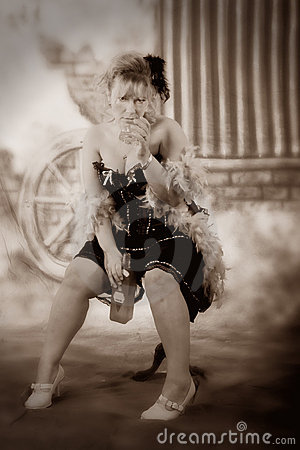 Drinking Saloon Girl Royalty Free Stock Images Image