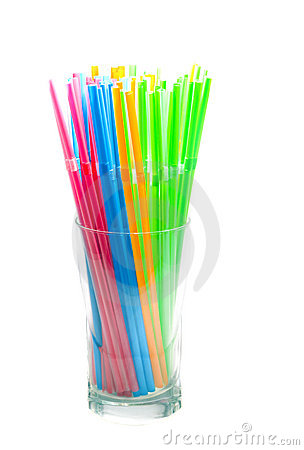 Free Drinking Straws In Glass Royalty Free Stock Photography - 2391487